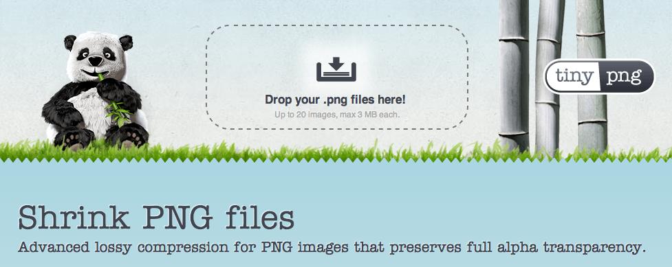 PNG 画像のファイルサイズを小さくできるサービス「TinyPNG」