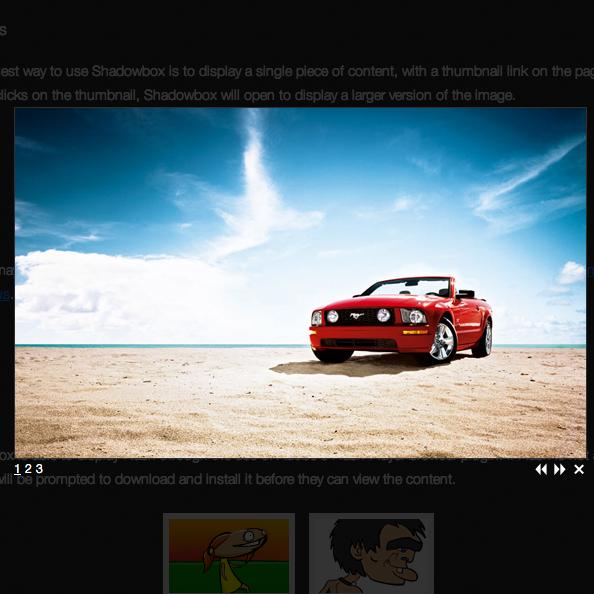 [JS]SWF や WMP などの動画ファイルもLightbox 風に表示できるjQueryプラグイン「Shadowbox」