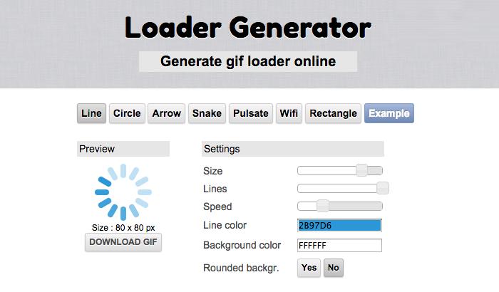 手軽にローディング画像が作れるジェネレーター「Loader Generator」