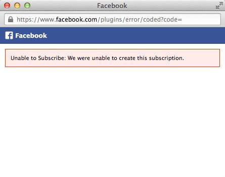 Facebook ページは「フォロー」ボタンが効かない模様