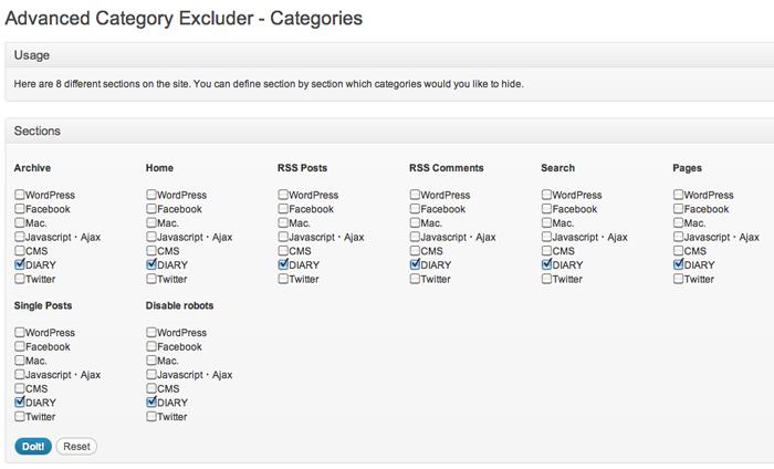 トップページや記事一覧から特定のカテゴリを除外できるWordPressプラグイン「Advanced Category Excluder」