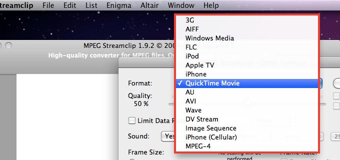 .mov を.mp4 などへ変換できる「MPEG Streamclip」
