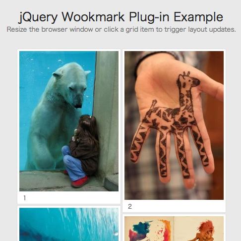 [JS]Pinterestのようにタイル状にコンテンツを配置できるjavascript「The Wookmark jQuery plugin」