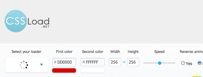 CSS によるローディングアニメーションを簡単に生成できる「CSS Load.net」