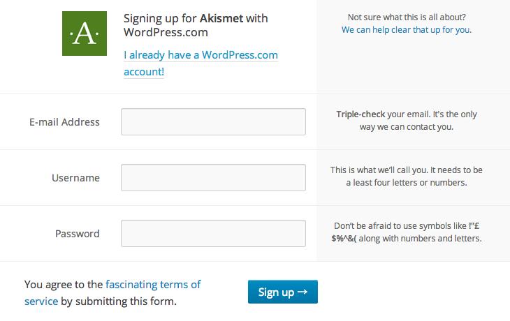 スパムコメント防止用のWordPressプラグイン「Akismet」の2013年9月時点の設定方法