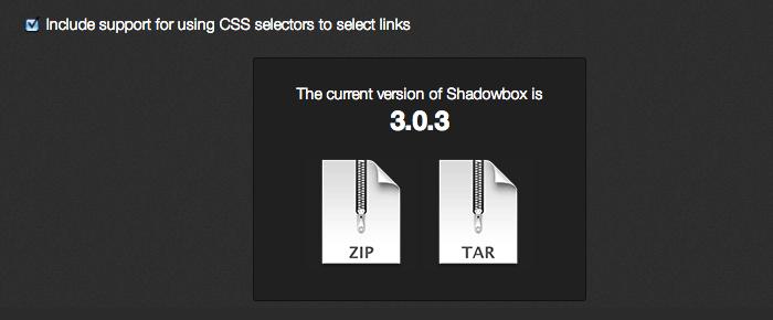 SWF や WMP などの動画ファイルもLightbox 風に表示できるjQueryプラグイン「Shadowbox」