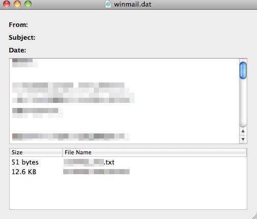 添付ファイル「winmail.dat」をMac で開く方法