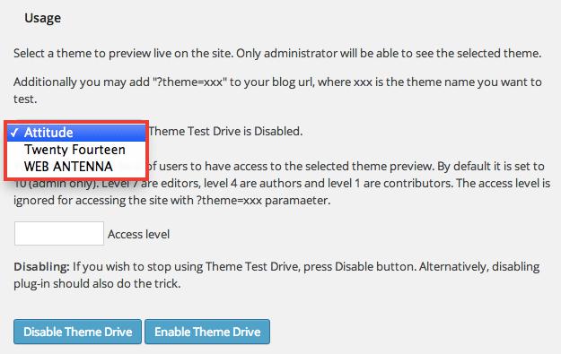 本番テーマの裏側で別のテーマを動かすことができるWordPressプラグイン「Theme Test Drive」
