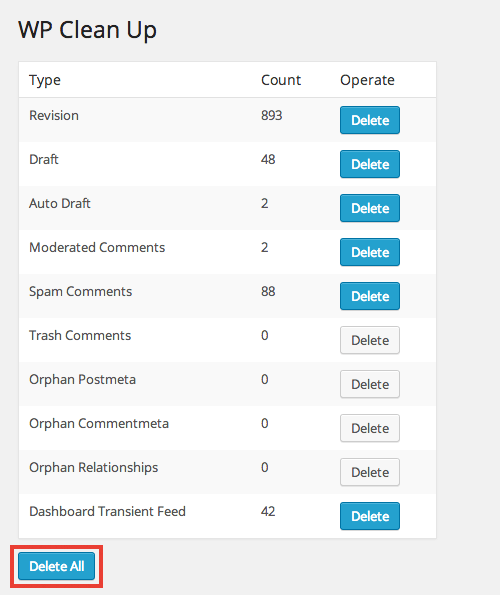 リビジョンやメタデータなどをまとめて削除できるWordPress プラグイン「WP Clean Up」