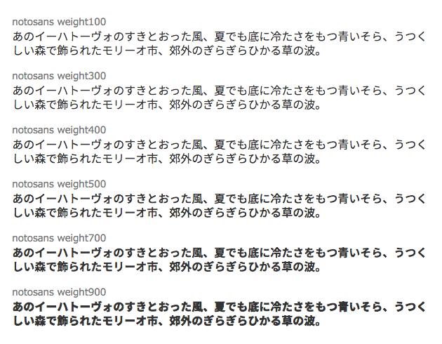 Noto Sans JP をwebフォントで利用する方法