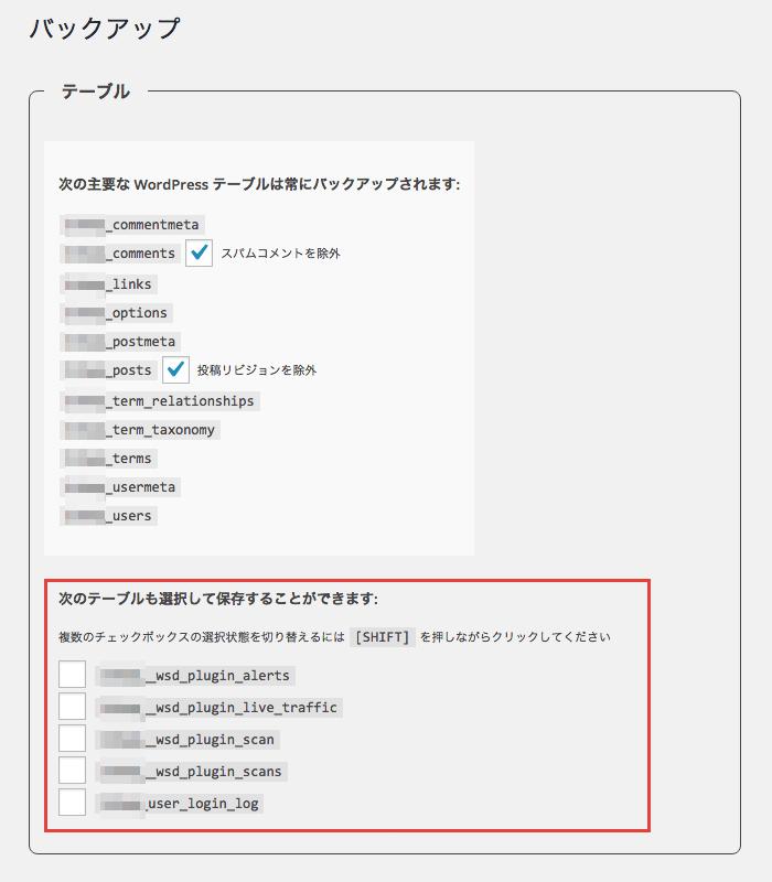 「WP-DB-Backup」プラグインでデータベースのバックアップを取る方法