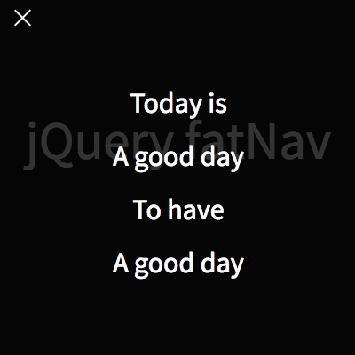 [JS]シンプルなフルスクリーンメニューのjQueryプラグイン「jQuery fatNav」