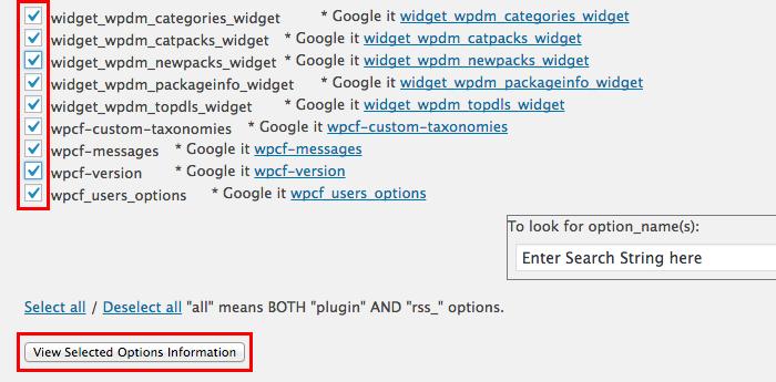 wp_optionsの不要なデータの検索と削除ができる「Clean Options」プラグインの使い方