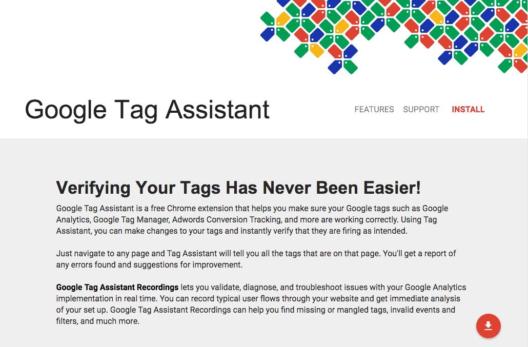 Analyticsのタグなどが正常に動いているかを確認できるGoogle Chromeの拡張機能「Google Tag Assistant」