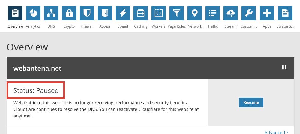 Cloudflareのサービス利用停止手順について